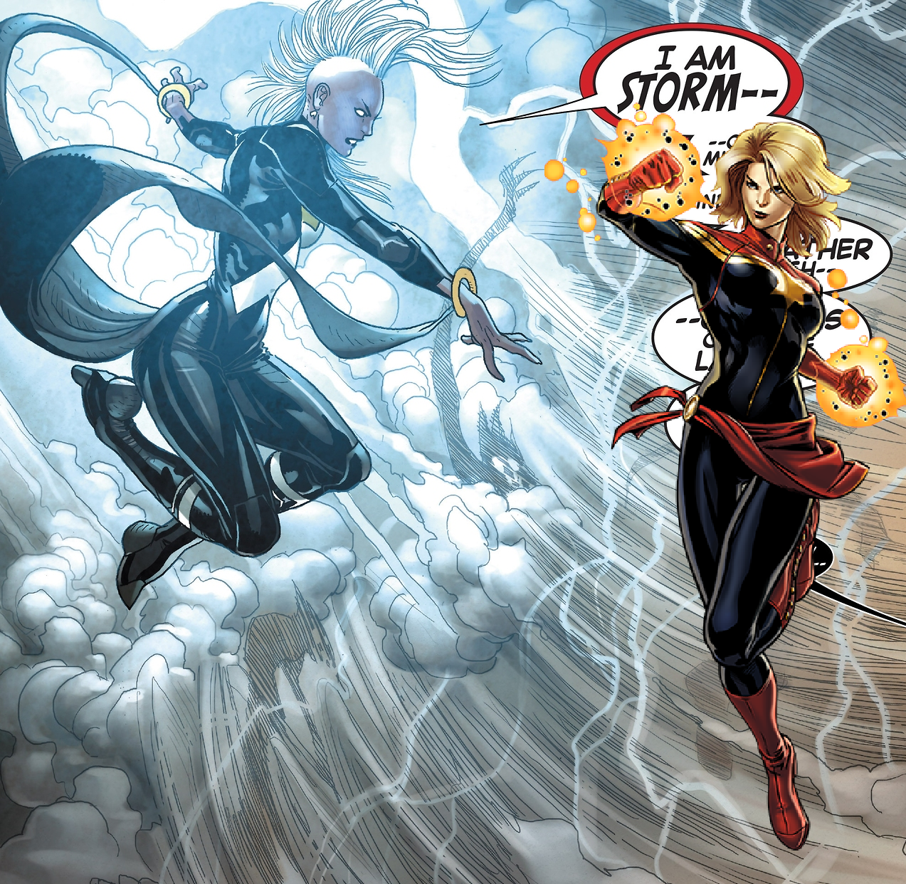 The M6P » Marvel Versus: Storm and Captain Marvel