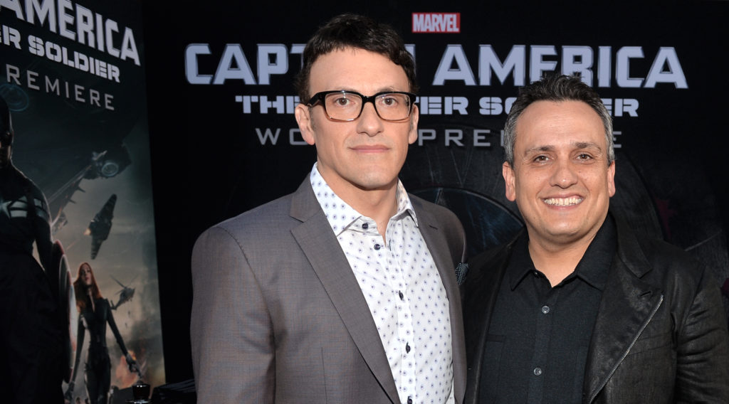 "HOLLYWOOD, CA - MARCH 13:  Directors Anthony Russo (L) and Joe Russo attend Marvel's ""Captain America: The Winter Soldier"" premiere at the El Capitan Theatre on March 13, 2014 in Hollywood, California.  (Photo by Alberto E. Rodriguez/Getty Images for Disney) *** Local Caption *** Anthony Russo;Joe Russo"