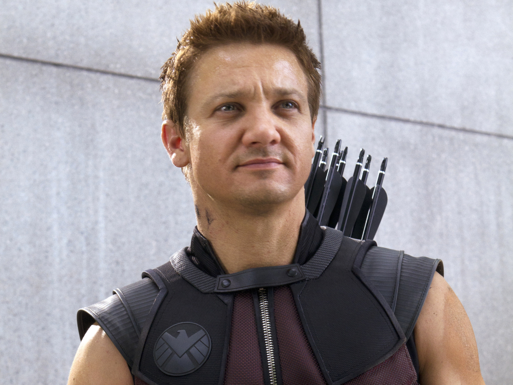 """Jeremy Renner in a scene from the motion picture """"Marvel's The Avengers."""" Photo by Zade Rosenthal, Marvel [Via MerlinFTP Drop]"""